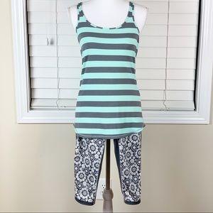 Lululemon Tank Top and Capris Pants Set